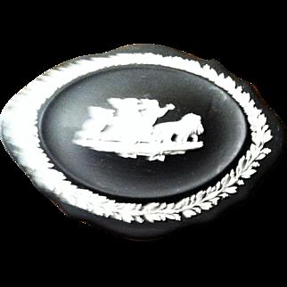 Black/White Oval Wedgwood Box