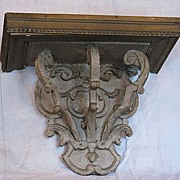 French 19th century carved shelf