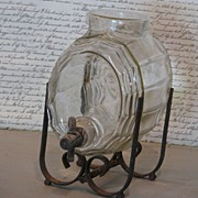 French Glass Keg Liquor Dispenser