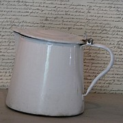 Vintage French Enamel Pitcher