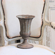 19th Century French Cast Iron Tulip Garden Urn