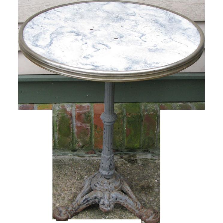Vintage French Iron Base Gueridon Bistro Table : European Antique Market |  Ruby Lane