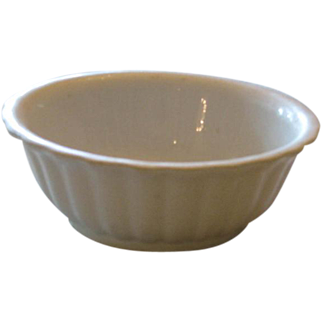 White Ironstone Fluted Bowl ~ England
