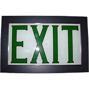 Vintage Reverse Painted EXIT Sign Framed