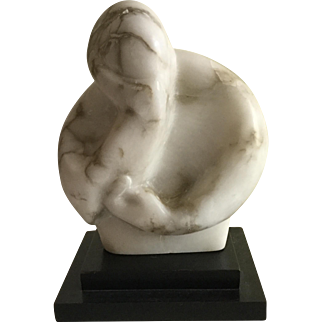Mid Century Modern Carved Marble Abstract Sculpture