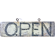Primitive Two Sided OPEN CLOSED Hand Painted Sign