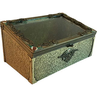 Vintage Dresser Box Display Box with Guilding and Enameling