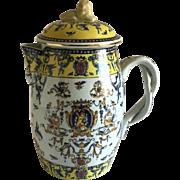 Antique English Porcelain Cider Jug 1877