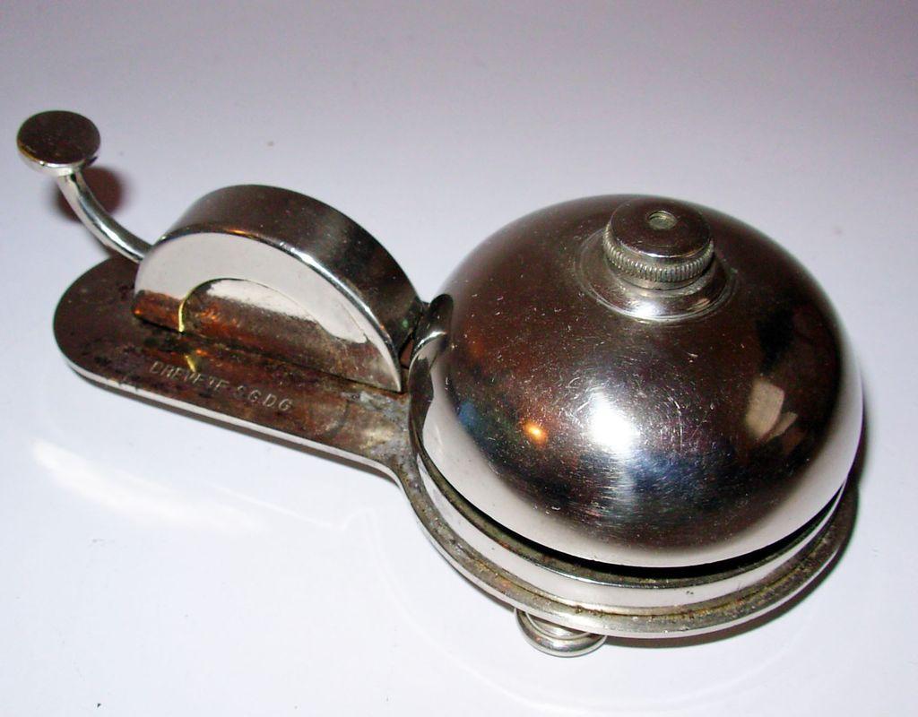 Vintage French Desk Bell or Service Bell Chrome : Debbie Turi Antiques    Ruby Lane - Vintage French Desk Bell Or Service Bell Chrome : Debbie Turi