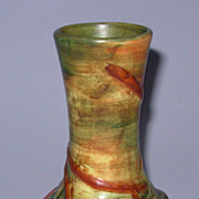 "Weller Baldin 6"" Vase Marked Great Color"