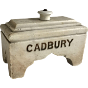 "Antique Carved Marble ""CADBURY"" Doorstop"