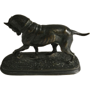 Joseph Victor Chemin Dog with Turtle Bronze