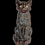 National Foundry Cast Iron Sitting Cat Doorstop # 36