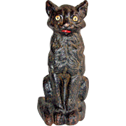National Foundry Cast Iron Sitting Cat Doorstop # 36