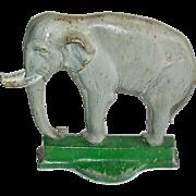 B & H Cast Iron Elephant Doorstop # 7799