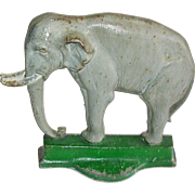B & H Cast Iron Elephant Doorstop # 7799