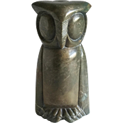 Folk Art Hand Carved Stone Owl