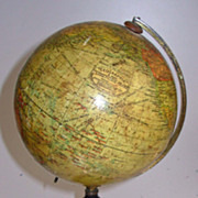 "Geographia Terrestrial Globe 6""  1923 on Stand"