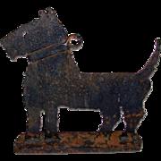 Folkart Hand Made Scottie Dog Iron Boot Scrape DoorStop