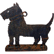 Folkart Hand Made Scottie Dog Iron Boot Scrape DoorStop