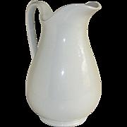 "Antique White Ironstone China Water Pitcher 11"" Royal Stone China Wedgwood & Co"