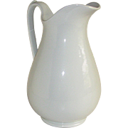 "Antique White Ironstone China Water Pitcher 11"" Royal Stone China Wedgwood & Co"
