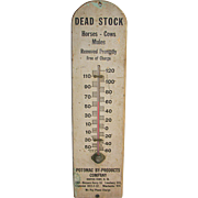 Vintage Advertising Thermometer DEAD STOCK Potomac By-Products Company