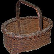 Antique Miniature Splint Basket