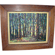 Impressionist Oil on Board Signed Golo Titled Black Forest