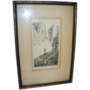 Fine Art Etching Signed Stevenson Titled The Prospective