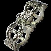 Vintage Hand Made Sterling Silver Bracelet Heavy