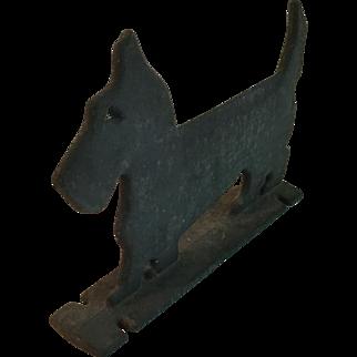 Old Cast Iron Scottie Dog Boot Scrape