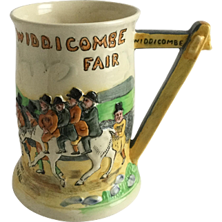 Crown Devon Fieldings MUSICAL Tankard Mug Widdicobe Fair Uncle Tom Cobleigh and Crew