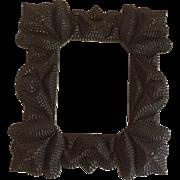 Antique Folk Art Tramp Art Frame