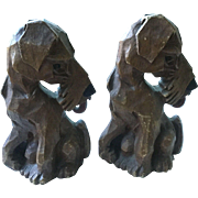 Vintage Dog Bookends Pair