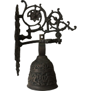 Victorian Cast Brass Wall Mounted Entrance Bell