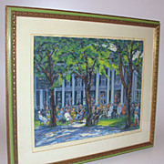 Harry Shokler Signed Serigraph Print Summer Hotel