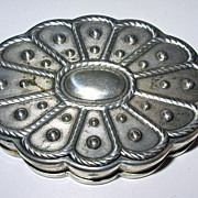 Vintage Volupte sterling Silver Compact with original screen & puff
