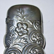Antique Sterling Silver Match Safe or Vesta