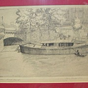 Artist signed Etching Polly Hill Listed Artist