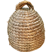 Fantastic Primitive Large Rye Grass Bee Skep
