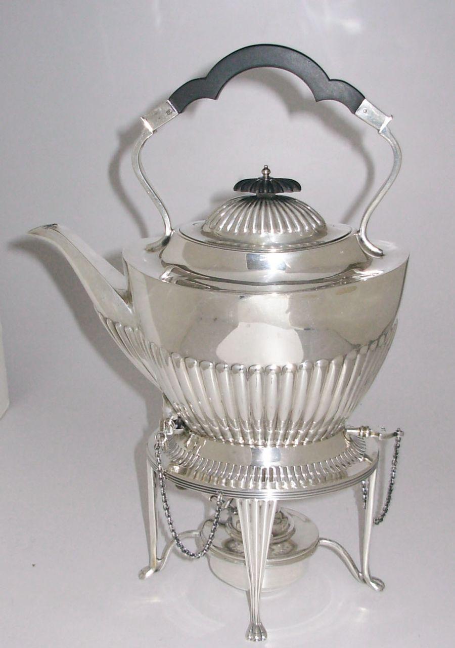 Antique English Sterling Silver Tilt Kettle Mappin & Webb Sheffield 1896-97