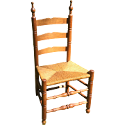 Bergen County New Jersey 3 Slat Maple & Hickory Childs Chair