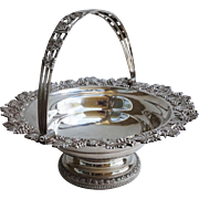 Edward Lownes American Coin Silver Cake Basket C. 1825