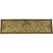 Early 19th Century French Carved and Gilt and Painted Boiserie Panel