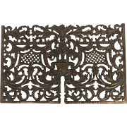 1890's Dawson Chicago Cast Iron Copper Plated Grate Grill Vent