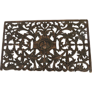 1890's Cast Iron Vent Grill Grate Eagle Motif by Dawson Chicago
