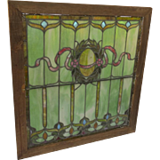 Leaded Stain Glass Window from Denver Square Home c 1900