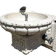 Glazed Terra Cotta Water Fountain
