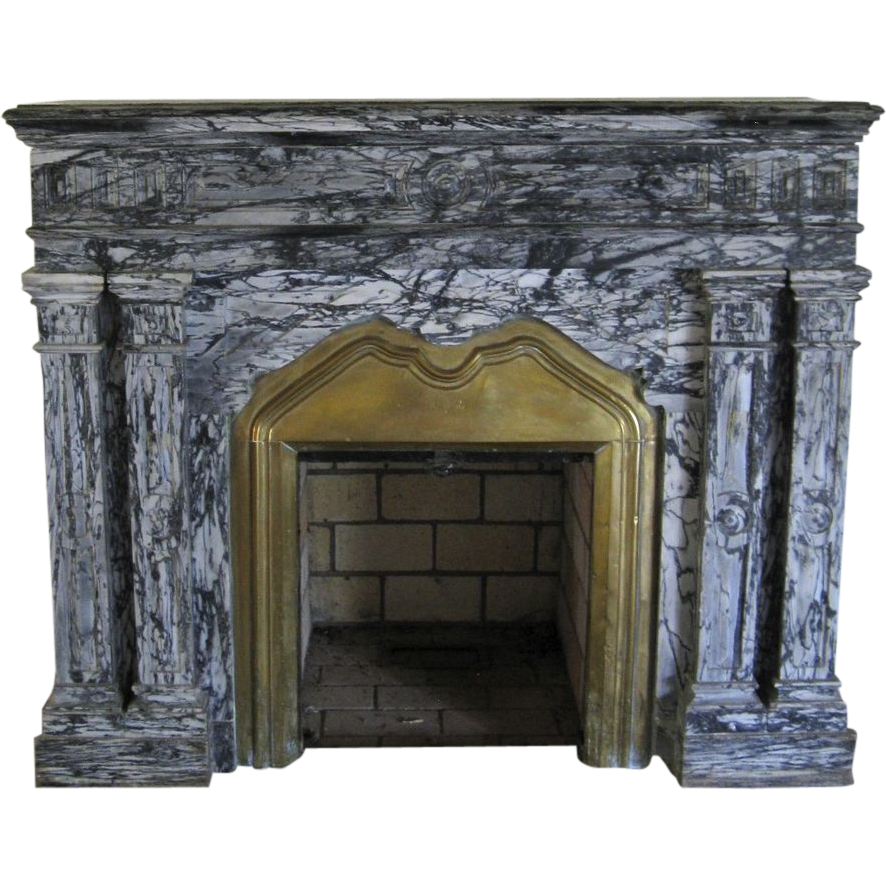 Antique Marble Fireplace Surround From Blacktulip On Ruby Lane
